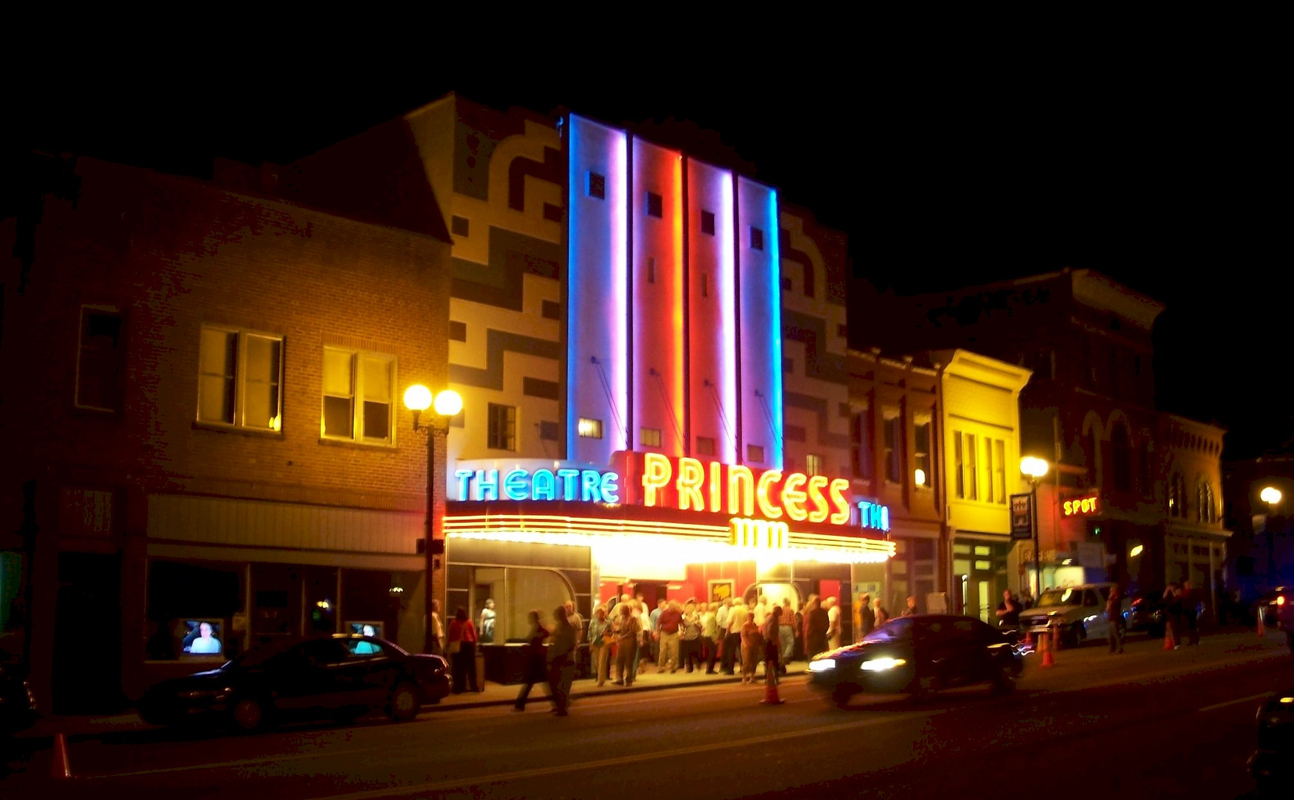 After 13 years of darkness, the restored Princess illuminates downtown Harriman once again.