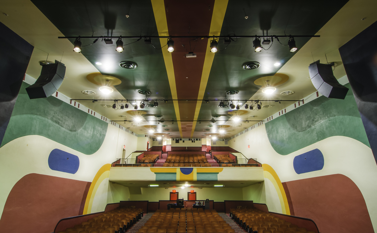 View of restored auditorium from the stage.