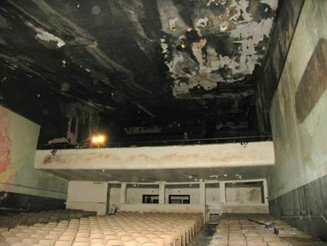 Pre-restoration view of the auditorium from the stage.