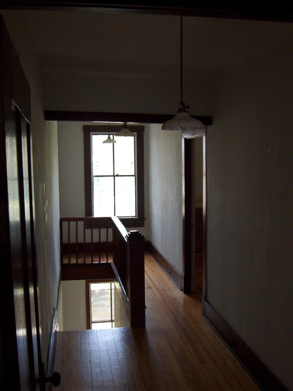 Restored upper stair hall
