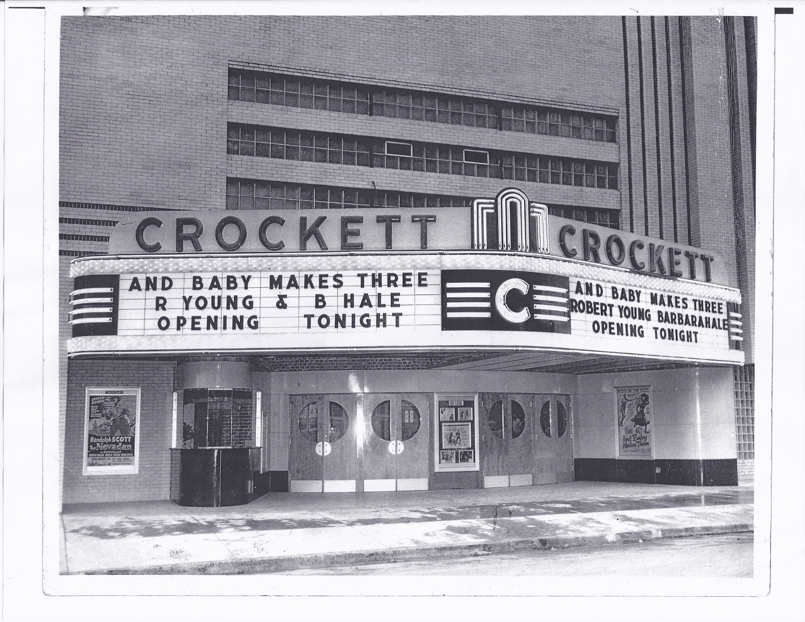 The Crockett prior to opening in 1950