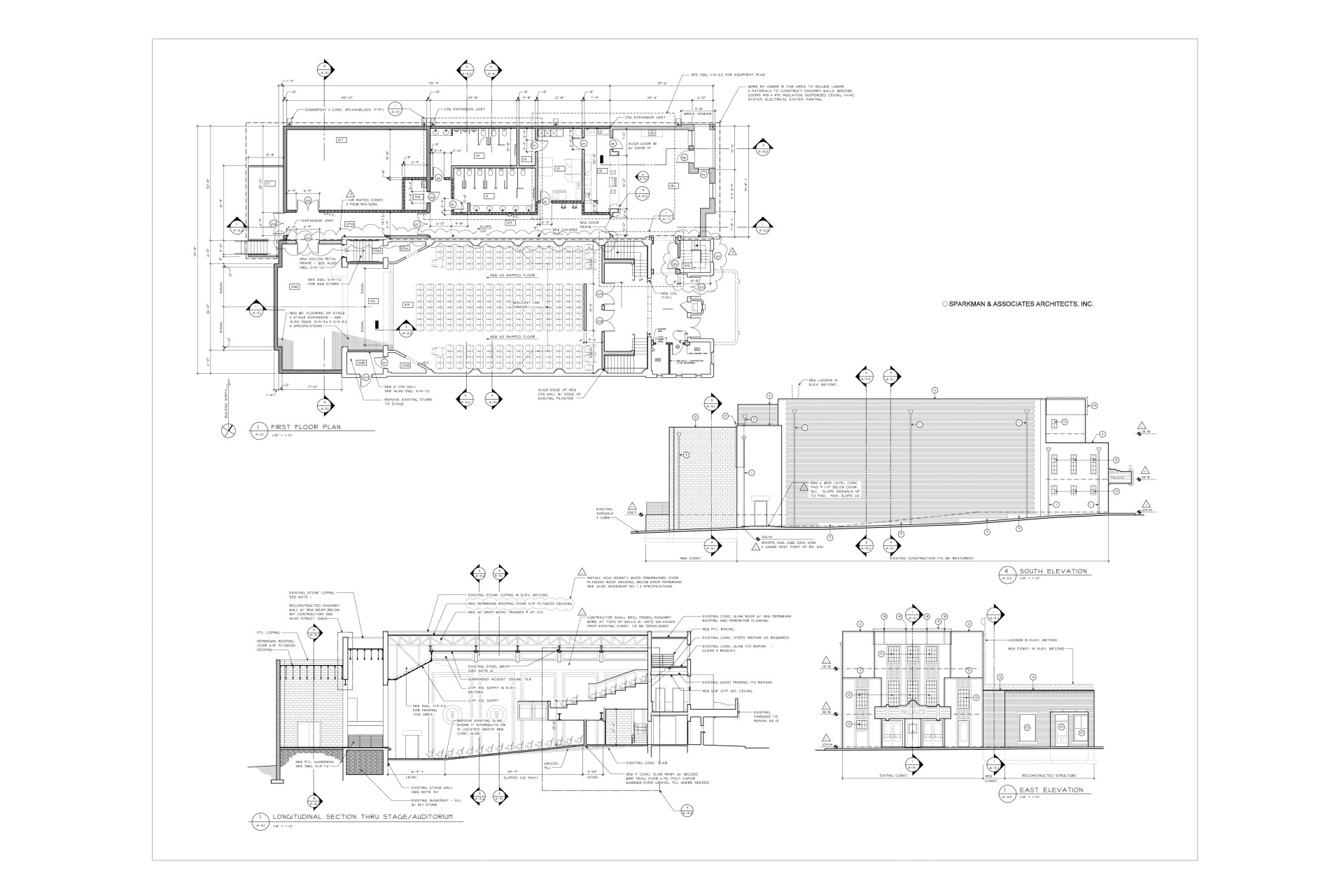 Renovation working drawings
