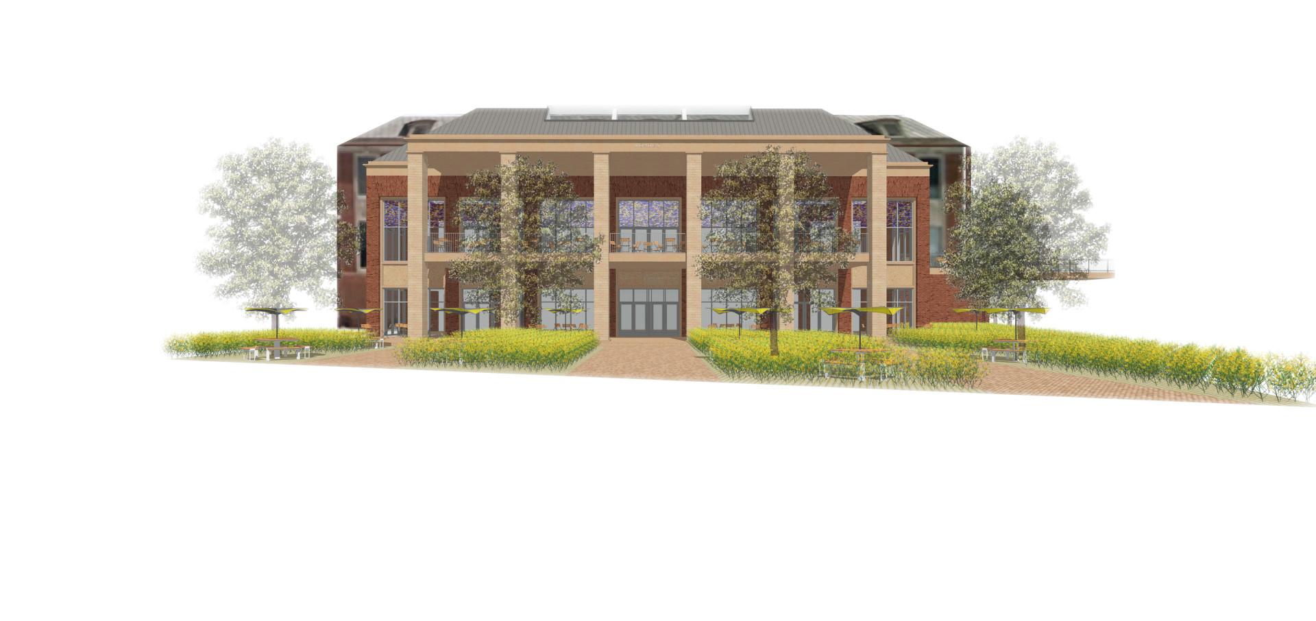 West elevation design rendering
