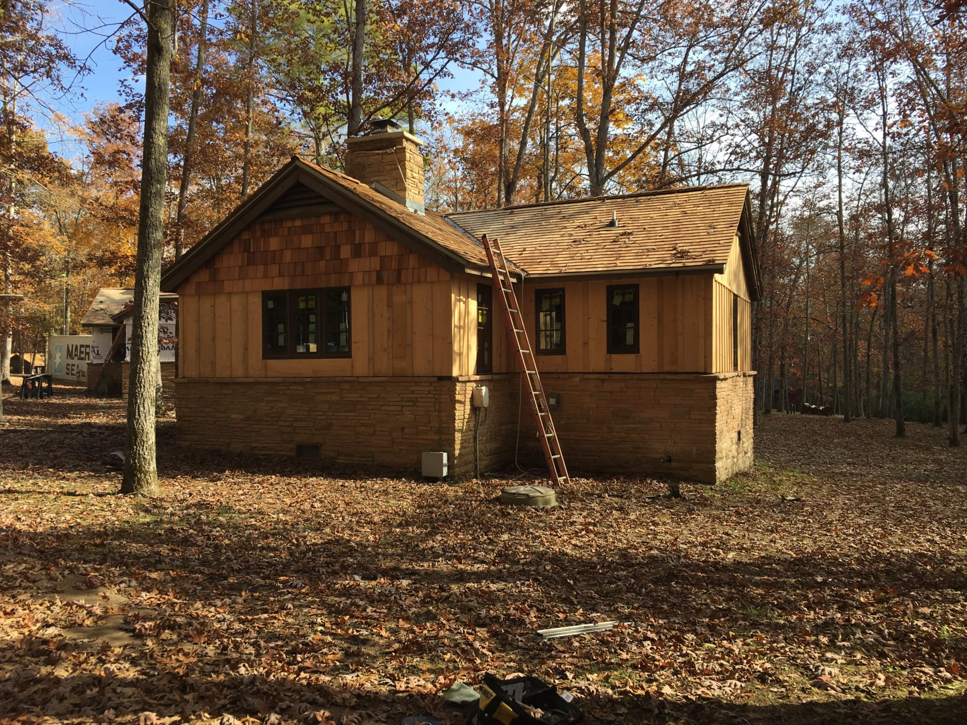 Cumberland Mountain State Park, under construction